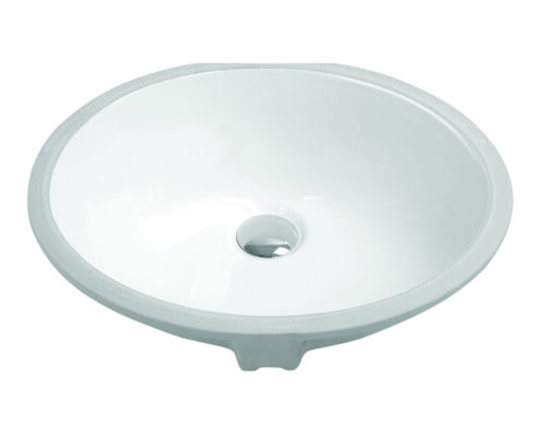 "19-1/4"" Undermount Oval Vanity Sink, White, MODEL: 1601"