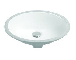 "18"" Undermount Oval Vanity Sink, White, MODEL: 1602W Undermount Oval Vanity Sink, Beige, MODEL: 1602B"