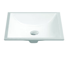 "20"" Undermount rectangular vanity sink, White, MODEL: 1633"