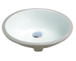"1636, 15"" Oval Porcelain Ceramic Undermount Sink"