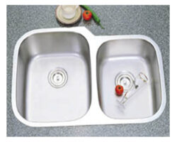 Stainless Steel 16 Gauge Double, U/M Sink (60/40)-UEC8252Able Kitchen Sink (60/40)