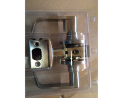 door lever entry satin