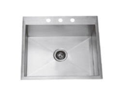 Hand Crafted,Drop-in Single Bowl Kitchen / Laundry Sink, Model: RR2522