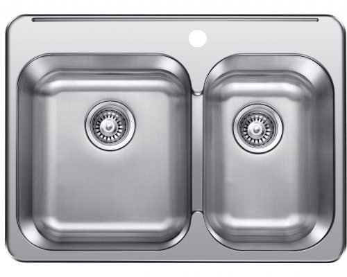 "Stainless Steel Topmont Double (60/40) sink 28""x21"" Model: 28121"