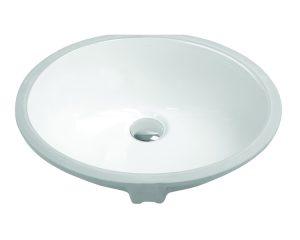 "19-1/4"" Undermount Oval Vanity Sink, White, MODEL: 1601"