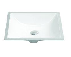 "20"" Undermount rectangular vanity sink, White, MODEL: 1633"