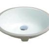 "1636, 15"" Oval Porcelain Ceramic Undermount Sink"