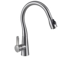 Stainless Steel Pullout kitchen Faucet, Satin Finish, UECFC01S