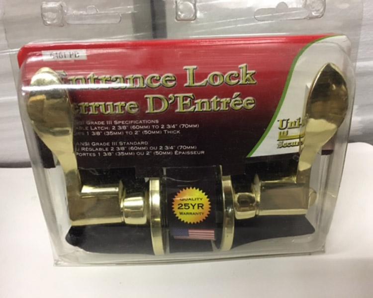 Door Lever Entry Brass (golden)