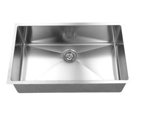 Hand Crafted, Undermount, R15 Single Bowl Kitchen Sink, Model: RR3219C