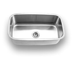Undermount, Large Size Single Bowl Kitchen Sink, MODEL: 3118